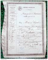 """PASSEPORT """"EMPIRE FRANCAIS"""" D52 LANGRES - J. VALENTIN, Marchande Merciére à MEMENIL EN 1860 - Vieux Papiers"""