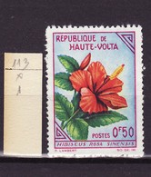 Haute Volta - Obervolta - Upper Volta 1963 Y&T N°113 - Michel N°120 * - 50c Hibiscus - Haute-Volta (1958-1984)