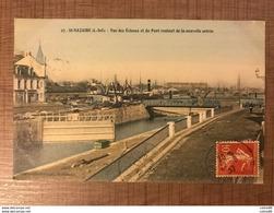 St Nazaire Vue Des écluses Et Du Pont Roulant De La Nouvelle Entrée - Saint Nazaire