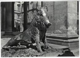 Tematica Arte Firenze  Loggia Del Mercato Nuovo Il Cinghiale Del Tacca Viaggiata 1963 Condizioni Come Da Scansione - Sculture