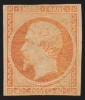 N°16, Napoléon Non-dentelé, 40c Orange, Neuf * Avec Charnière - Signé CALVES - 1853-1860 Napoléon III