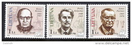 LITHUANIA 2005 Personalities Set Of 3  MNH / **.  Michel 863-65 - Lithuania