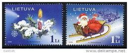 LITHUANIA 2005 Christmas Set Of 2 MNH / ** Michel 891-92 - Lithuania