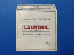 BOLOGNA PUBBLICITÀ BUSTINA LAUROSIL SULFAMIDICO - FARMACIA - MEDICINALI - Pubblicitari