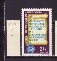 Haute Volta - Obervolta - Upper Volta 1963 Y&T N°130 - Michel N°140 * - 25f Droit De L'homme - Haute-Volta (1958-1984)