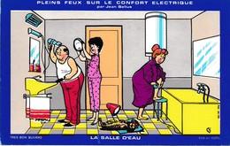 Buvard Pleins Feux Sur Le Confort électrique Par Jean Bellus La Salle D'eau Edité Par Sodel  Déstockage à Saisir - Electricité & Gaz