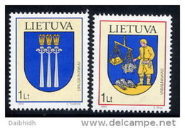 LITHUANIA 2005 Town Arms Set Of 2 MNH / **.  Michel 869-70 - Lithuania
