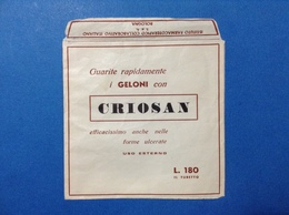 BOLOGNA PUBBLICITÀ BUSTINA CRIOSAN - FARMACIA - MEDICINALI - Pubblicitari