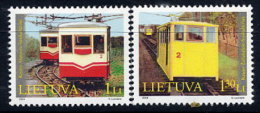 LITHUANIA 2004 Tramcars  Set Of 2  MNH / **.  Michel 859-60 - Lituanie