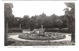 Australia - Melbourne / Victoria - The Fontain And Gardens St. Kilda - Old View - Melbourne