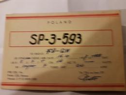 CARTE QSL RADIO AMATEUR POLOGNE VARSOVIE 1957 - Radio Amateur