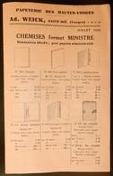 Rare Document Commercial 1933 Papeterie Des Hautes Vosges Weick Saint Dié Art Déco - France