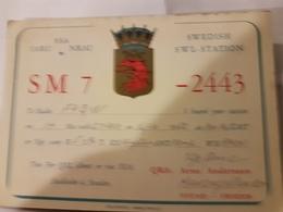 CARTE QSL RADIO AMATEUR SUEDE IARU YSTAD 1952 - Radio Amateur