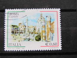*ITALIA* USATI 2008 - ROMA CAPITALE 2^ - SASSONE 3026 - LUSSO/FIOR DI STAMPA - 6. 1946-.. Repubblica