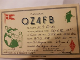 CARTE QSL RADIO AMATEUR DANEMARK AARHUS 1951 - Radio Amateur