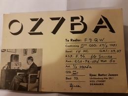 CARTE QSL RADIO AMATEUR DANEMARK LYNGBY 1951 - Radio Amateur