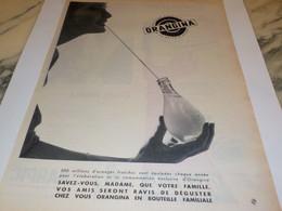 ANCIENNE PUBLICITE ORANGINA A LA PULPE D ORANGE 1960 - Affiches