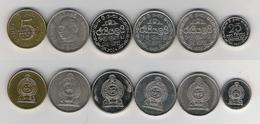 Sri Lanka 25 Cents 2002 1 Rupee 1975, 1978 ,1982 , 2004 , 5 Rupees 2011 - Sri Lanka
