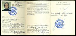 CITIZEN RETURN CERTIFICATE 2001 BY LATVIA EMBASSY IN WASHINGTON USA ONE-WAY PASSPORT RESEPASS PASS - Historical Documents