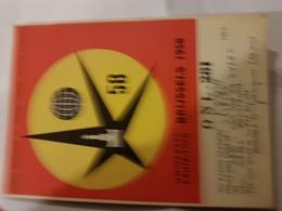 CARTE QSL RADIO AMATEUR BELGIQUE BRUXELLES 1956 - Radio Amateur