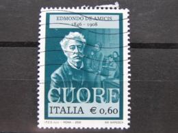 *ITALIA* USATI 2008 - CENT EDMONDO DE AMICIS - SASSONE 3021 - LUSSO/FIOR DI STAMPA - 6. 1946-.. Repubblica
