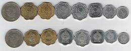 Sri Lanka  1 Cent 1989, 2 Ct. 1975, 5 Ct. 1978, 10 Cent 1971, 1975,  1988, 1 Rupee Jaywardene - Sri Lanka