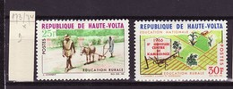 Haute Volta - Obervolta - Upper Volta 1966 Y&T N°173 à 174 - Michel N°199 à 200 * - éducation Rurale - Haute-Volta (1958-1984)