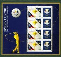 France 2018.Bloc Ryder Cup .La Légende Du Golf En France.** - Blocs & Feuillets