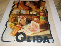 ANCIENNE PUBLICITE  LA CHARCUTERIE DE OLIDA  1960 - Affiches