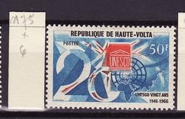 Haute Volta - Obervolta - Upper Volta 1966 Y&T N°175 - Michel N°208 * - 50f UNESCO - Haute-Volta (1958-1984)