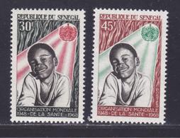 SENEGAL N°  313 & 314 ** MNH Neufs Sans Charnière, TB (D8642) Rganisation Mondiale De La Santé - 1968 - Sénégal (1960-...)