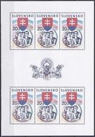 Slowakei Slovakia Slovensko 2003 Geschichte History Unabhängigkeit Independence Republik Wappen Arms, Mi. 444 ** - Unused Stamps