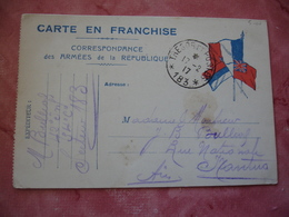Tresor Et Postes 183 Cachet Franchise Postale Militaire Guerre 14.18 - Marcophilie (Lettres)