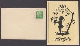 CHILDREN Post Office KINDER POST - POSTCARD / GERMANY 1950's - Girl Flower - Post