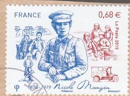 FRANCE 2015 NICOLE MANGIN 1878-1919 OBLITERE SUR FRAGMENT  YT 4936 - - France