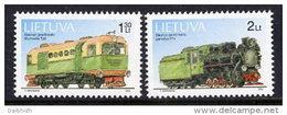 LITHUANIA 2002 Narrow-guage Railways Set Of 2 MNH / **.  Michel 794-95 - Lithuania