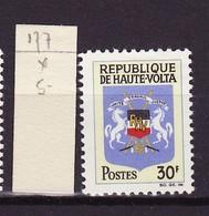 Haute Volta - Obervolta - Upper Volta 1967 Y&T N°177 - Michel N°210 * - 30f Armoirie - Haute-Volta (1958-1984)