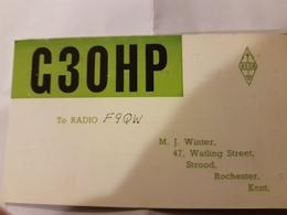 CARTE QSL RADIO AMATEUR ANGLETERRE ROCHESTER KENT - Radio Amateur