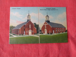 US Marine Base----- Camp Lejeune--  M/V Catholic Church  Protestant Chapel     North Carolina > Ref 3169 - Militaria