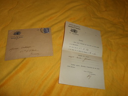 ENVELOPPE + LETTRE DE 1953. / SOCIETE FRATERNELLE DES JARDINIERS DE BRUNOY ET ENVIRONS..CACHET + TIMBRE - Marcophilie (Lettres)