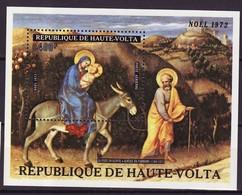 Haute Volta - Obervolta - Upper Volta Bloc Feuillet 1973 Y&T N°BF5D - Michel N°(?) *** - Noël 1972 - Haute-Volta (1958-1984)