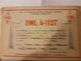 CARTE QSL RADIO AMATEUR ANGLETERRE CRADLEY HEATH STAFFS 1949 - Radio Amateur