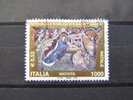 *ITALIA* USATI 2001 - NATALE - SASSONE 2578 - LUSSO/FIOR DI STAMPA - 6. 1946-.. Repubblica