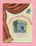 PROGRAMME  : THEÂTRE DE LA PORTE ST MARTIN - SAISON 1946 / 1947 : EMBRASSEZ MOI Avec MILTON - - Programs