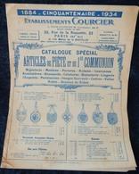 Rare Document Commercial 1934 Établissements Courcier Rue De La Roquette Paris Articles De Piété Et Premiere Communion - France