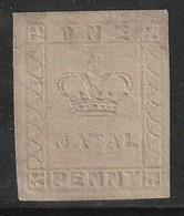 NATAL - N°3  (1857-58) Impression En Relief - Natal (1857-1909)