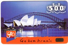 CZECH REPUBLIC - Sydney Opera House/Australia, Eurotel Prepaid Card 500 Kc, Used - Paysages