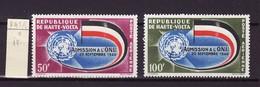 Haute Volta - Obervolta - Upper Volta Poste Aérienne 1962 Y&T N°PA5 à 6 - Michel N°112 à 113 * - Admission Aux NU - Haute-Volta (1958-1984)