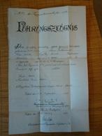 1. Weltkrieg, Führungszeugnis Eines Soldaten Aus Aurich, Bei Der 5. Komp. 3. Thür. Inf. Regiments Nr. 71, Erfurt 30.9.10 - Dokumente