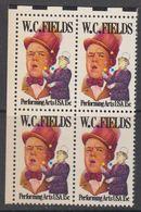 USA 1980 W.C. Fields 1v Bl Of 4 (corner) ** Mnh (41864B) - Verenigde Staten